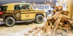 قوات الأمن البيئي تضبط مخالفين لنظام البيئة لبيعهم حطبًا محليًا لأغراض تجارية