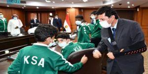 وزير الشباب المصري يستقبل منتخب المملكة للإسكواش