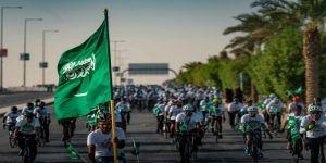 اتحاد الدراجات ومسك الخيرية والرياضة للجميع يحتفون باليوم الوطني الـ 91 للمملكة