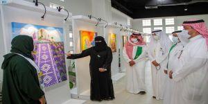 45 عملاً فنياً بمعرض السعودية دارنا بالجبيل الصناعية
