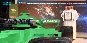 الاتحاد السعودي للسيارات والدراجات النارية يكشف النقاب عن أكبر مجسّم لسيارة الفورمولا 1