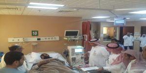 مدير صحة الجوف يطمئن على مرضى الكلى بمستشفى الأمير متعب بن عبد العزيز بسكاكا