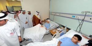 مغادرة 43 مصاباً من الحادث الإرهابي ببلدة القديح مستشفيات المنطقة