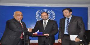 """الأمم المتحدة تمنح """" طارق إسماعيل """" الدكتوراه الفخرية"""