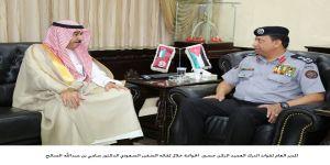 سفير خادم الحرمين الشريفين بعمّان يلتقي مدير قوات الدرك الأردني