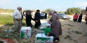 """الحملة السعودية توزع مواد غذائية على النازحين في حلب وتصل للمحطة الـتاسعة والعاشرة في برنامج """"ولك مثل أجره"""""""