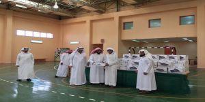 توزيع 214 جهازاً محمولاً لطلاب وطالبات تكافل بحفر الباطن