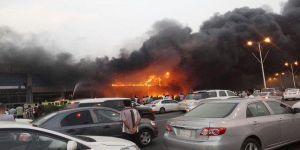 اندلاع حريق كبير في مول تجاري بجازان قبل افتتاحه بأيام
