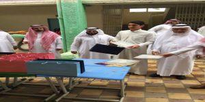 الإرشاد الطلابي بثانوية مكة يُكرم المتفوقين دراسياً