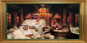 لوحة رؤية 2030 جسدت ووثقت التاريخ السعودي بفن يليق به و جمعت المؤسس والملك سلمان وولي العهد