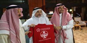 الهيئة العامة للرياضة تكرم الزميل منصور لجهوده في الكرنفال لكشفي بالطائف