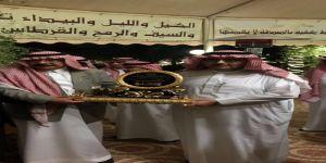 المحامي الشمري يحتفي بالأمير عبد العزيز بن أحمد بأسطبل النشاما