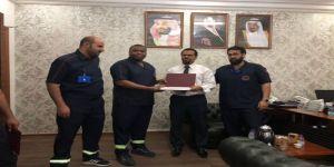مدير الهلال الأحمر بمحافظة جدة يكرم المسعفين المتميزين