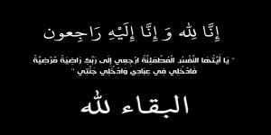 ابنة الأستاذ / وليد أبوبكر في ذمة الله