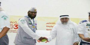 الحربي يكرم القائد الكشفي مبارك عبدالله القرني