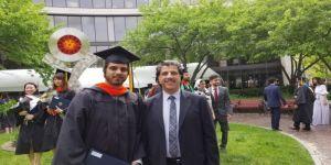 خالد يحتفي بتخرج ابنه فيصل من جامعة رويشيستر الأمريكية