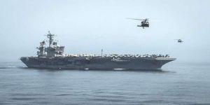 تحطم مروحية أمريكية على متن حاملة الطائرات رونالد ريغان