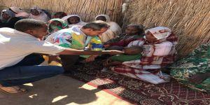 قافلة الخير لملتقى المحبة والسلام تتفقد أوضاع أهالي السودان