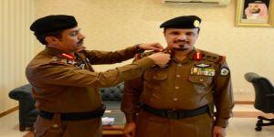 مدير مدينة تدريب الأمن العام بمكة يقلد مساعده الغامدي رتبته الجديدة