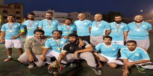 الهداية الاهلية تحقق بطولة النخبة لمنسوبي مكتب التعليم بشرق الدمام لكرة القدم