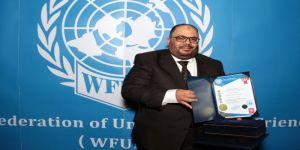 سامر بنتن يحصل علي دكتوراة فخرية عالمية وعضوية دائمة بالفيدرالية العالمية لأصدقاء الأمم المتحدة