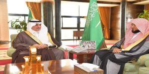أمير تبوك يستقبل امام وخطيب المسجد الحرام الشيخ ماهر المعيقلي