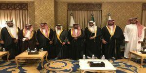 مسؤلين وأعيان ووجهاء الرياض في حفل زفاف العبدالرحيم والمهنا