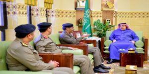 وكيل إمارة الرياض يستقبل مديري شرطة ومرور المنطقة ونائب قائد القوات الخاصة لأمن الطرق