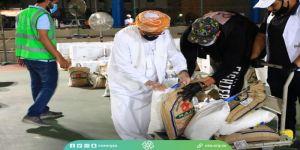 سفراء التطوع توزع 326 سلة غذائية في حي القريات بجدة