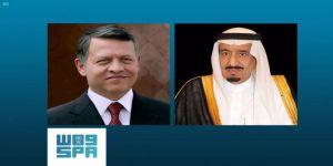 خادم الحرمين الشريفين يتلقى اتصالًا هاتفيًا من ملك الأردن