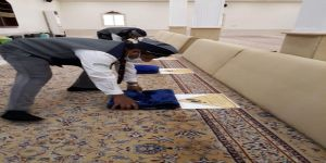رواد كشافة محافظة المجمعة يواصلون مبادراتهم التطوعية النوعية لخدمة المساجد