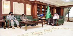 أمير جازان يستقبل القيادات الأمنية بالمنطقة