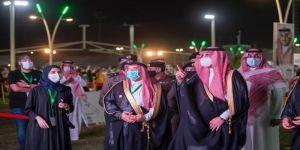 أمير منطقة الجوف يشارك الأهالي احتفال الأهالي باليوم الوطني