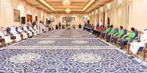 أمير نجران يستقبل رؤساء الأندية الرياضية والرياضيين في مجلسه الأسبوعي الإثنينية