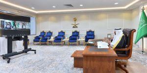 أمير منطقة نجران يجتمع بمحافظ الهيئة العامة لعقارات الدولة