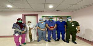 إزالة ورم كبير بإستخدام تقنية المناظير الجراحية في مستشفى شراف في حائل