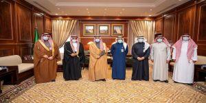 أمير منطقة حائل يستقبل عدداً من مسؤولي الاتحاد السعودي للدراجات