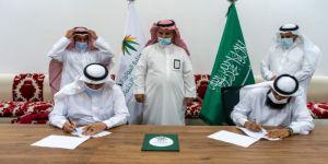 مدير مركز تنمية مكة يشهد التوقيع ويشيد بمبادرة الجمعيتين