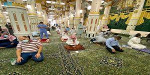 مليون ونصف زائر للزيارة والصلاة في الروضة الشريفة بالمسجد النبوي