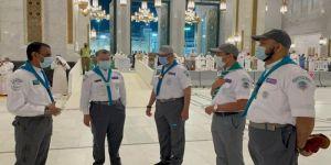 الصبيحي يطلع على مهام كشافة تعليم مكة في المسجد الحرام