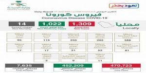 إتاحة إجراء 3 فحوصات كورونا شهريا وتسجيل 1309 إصابة في المملكة وتعافي 1022 حالة